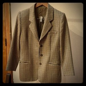 GUCCI  Vintage Houndstooth Tweed Jacket Brown